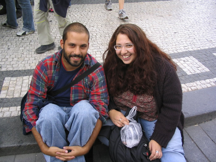 Abe & Vered in Prague, August 2005