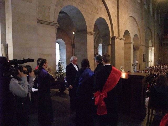 Barry being Hatted - Lund Cathedral