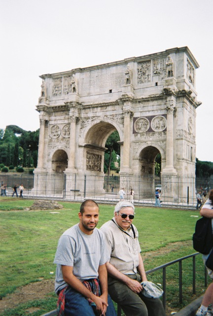 Abe, Barry and the Arch of Constantine